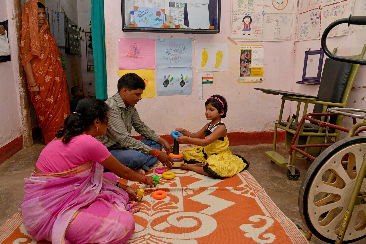 Children and their parents are trained in everyday activities, mobility, reading & writing by Nav Bharat Jagriti Kendra (NBJK) for deafblind children who have both hearing and visual disability.<br /> <br /> Nav Bharat Jagriti Kendra (NBJK) was established in 1971 by four engineering graduates who <br /> were sensitive to the causes of disparity, exploitation and poverty with an aim to <br /> establish a just society. Today they are the leading non-profit organization in Jharkhand <br /> running educational institution and health facilities.