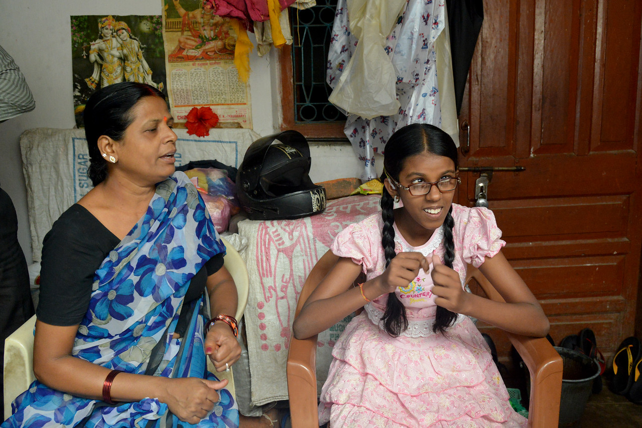 With the help of Nav Bharat Jagriti Kendra (NBJK) everyday activity training and the efforts of her proud mother, this young girl now communicates and also goes on her own to the school.<br /> <br /> Nav Bharat Jagriti Kendra (NBJK) was established in 1971 by four engineering graduates who <br /> were sensitive to the causes of disparity, exploitation and poverty with an aim to <br /> establish a just society. Today they are the leading non-profit organization in Jharkhand <br /> running educational institution and health facilities.
