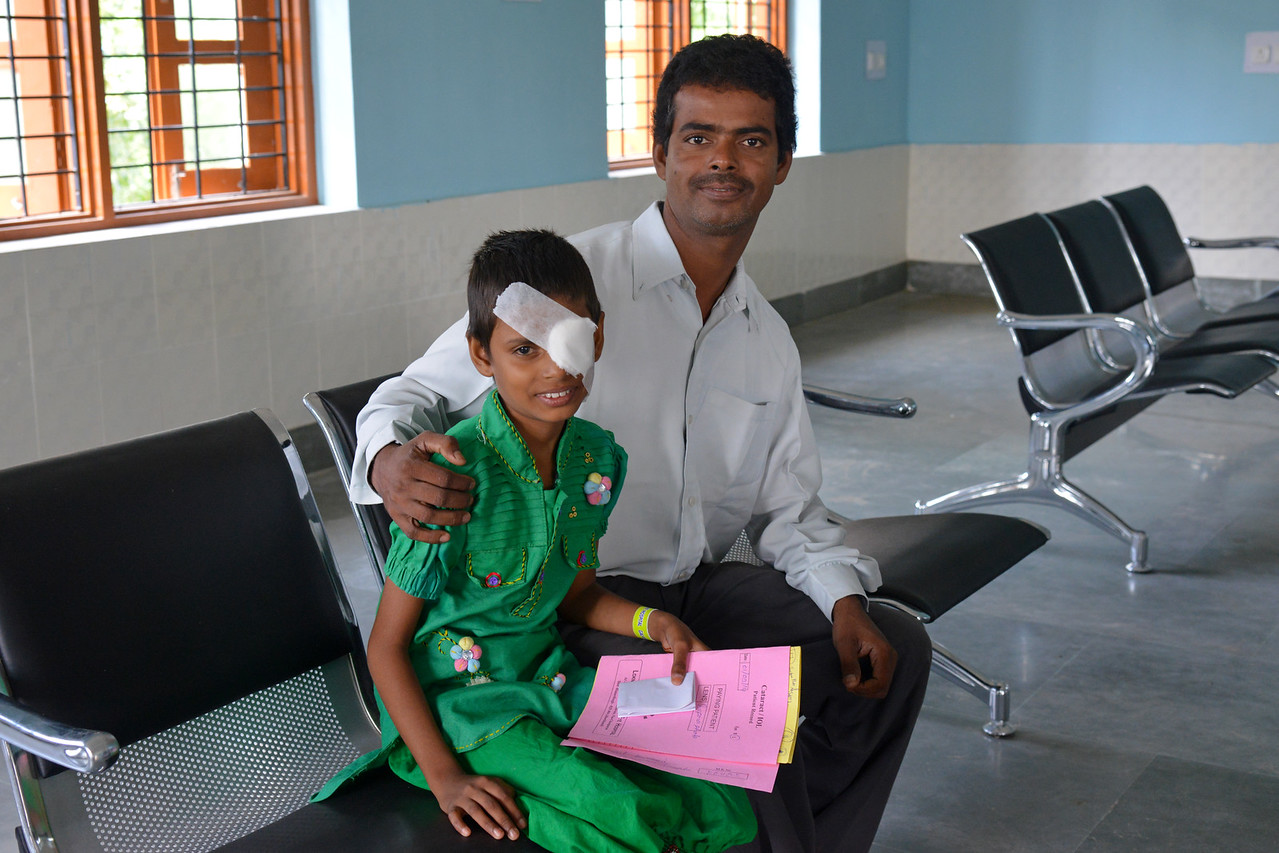 Payal has cataract in both her eyes. She went from doctor to doctor until finally she was correctly diagnosed and treated at the Nav Bharat Jagriti Kendra (NBJK) Lok Nayak Jai Prakash Eye Hospital for which she and her father, Bhishma M Gupta are very greatful.<br /> <br /> Nav Bharat Jagriti Kendra (NBJK) was established in 1971 by four engineering graduates who <br /> were sensitive to the causes of disparity, exploitation and poverty with an aim to <br /> establish a just society. Today they are the leading non-profit organization in Jharkhand <br /> running educational institution and health facilities.