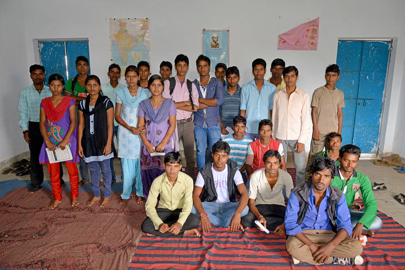 Students of the Nav Bharat Jagriti Kendra (NBJK) Remedial Coaching Centre (RCC) in Hazaribag, Jharkhand. About 85% population of Jharkhand lives in rural areas. The quality of education at government schools is not up to the mark. Negligence of teachers affects the education of many children of villages in terms of knowledge and academic results. It has been observed that students of class VIII do not even know about simple multiplication, division, etc. RCC aims to address this issue.<br /> <br /> Nav Bharat Jagriti Kendra (NBJK) was established in 1971 by four engineering graduates who <br /> were sensitive to the causes of disparity, exploitation and poverty with an aim to <br /> establish a just society. Today they are the leading non-profit organization in Jharkhand <br /> running educational institution and health facilities.