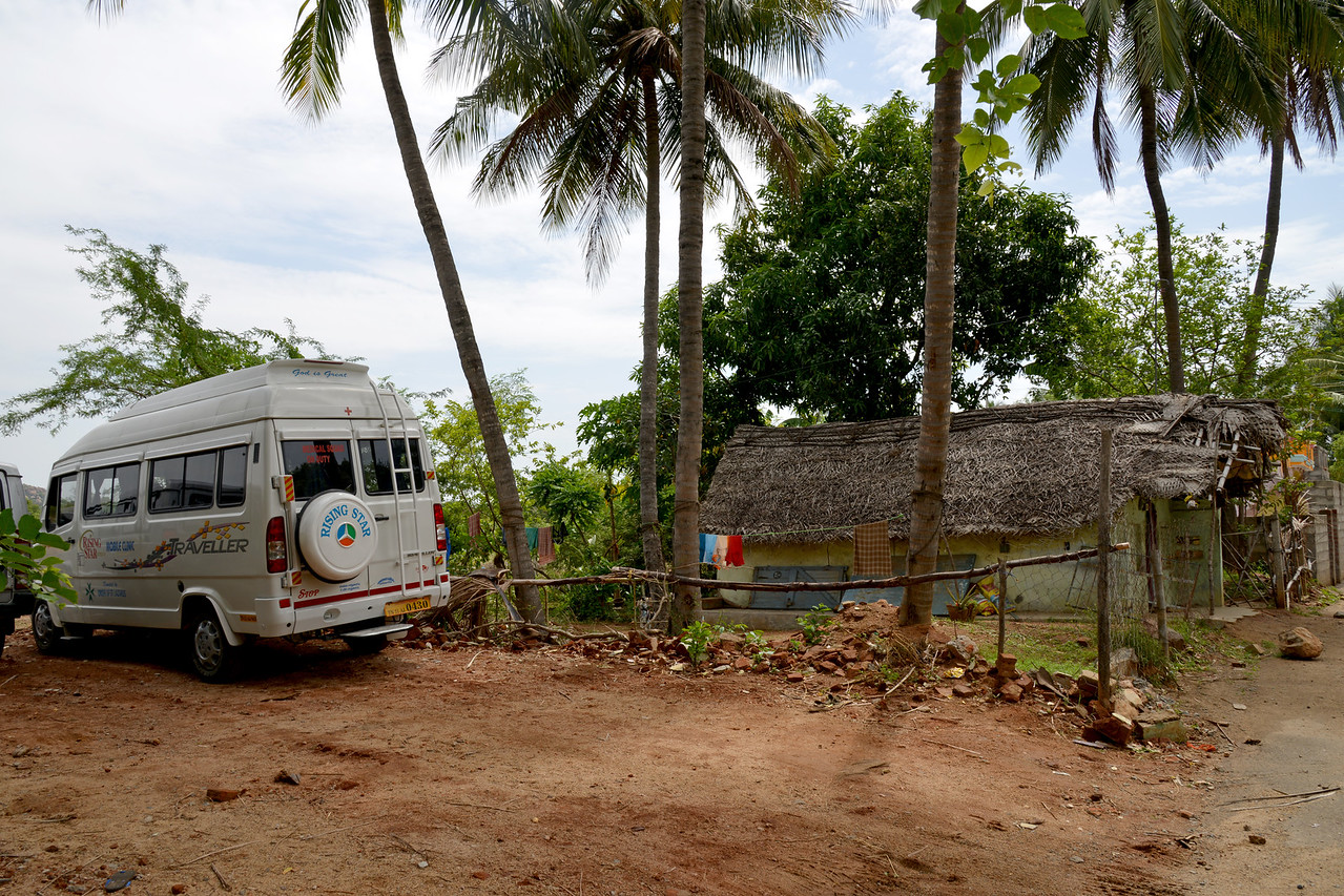 Mobile van at the Lepers' Colony.<br /> Rising Star Outreach of India, Kancheepuram District, Tamil Nadu, India