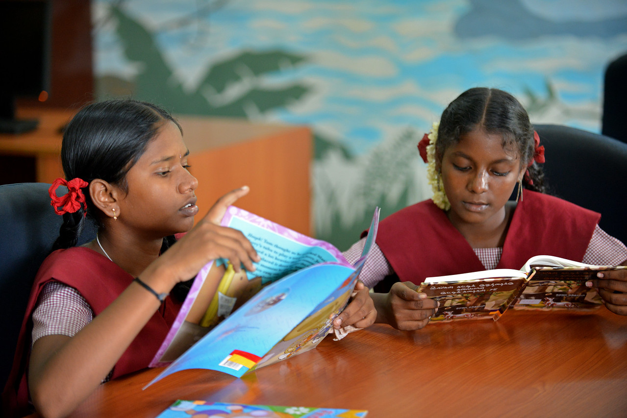 Library.<br /> Rising Star Outreach of India, Kancheepuram District, Tamil Nadu, India