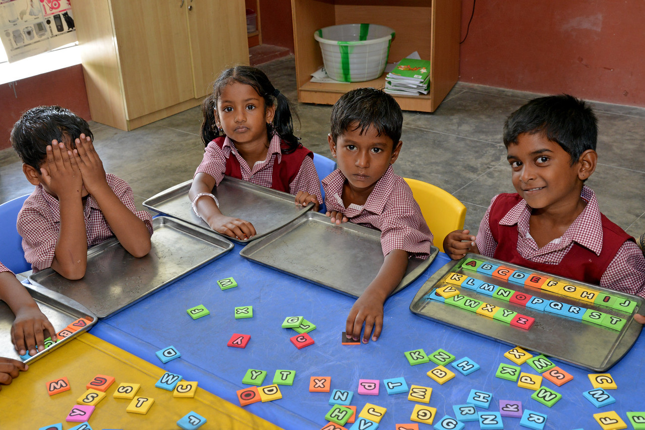 Classroom<br /> Rising Star Outreach of India, Kancheepuram District, Tamil Nadu, India