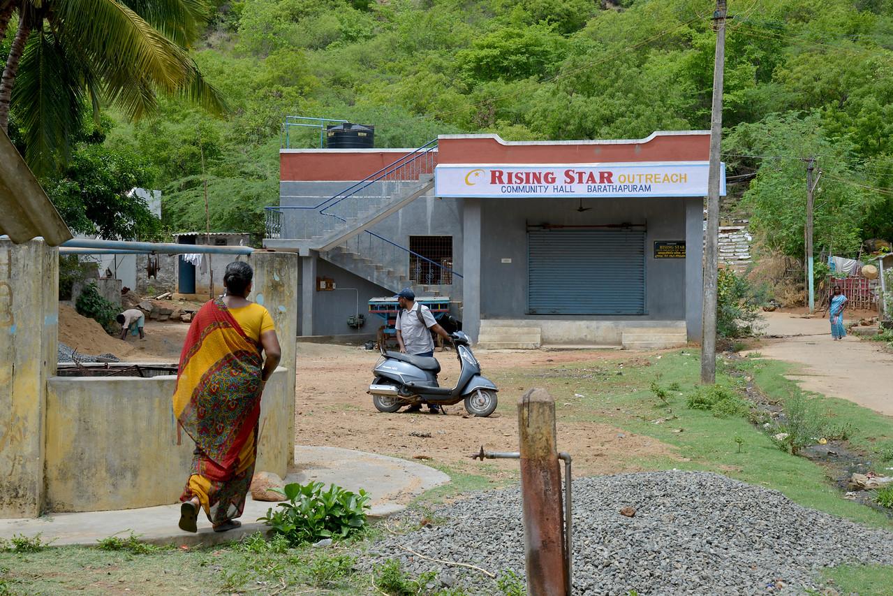 Community hall.<br /> Rising Star Outreach of India, Kancheepuram District, Tamil Nadu, India