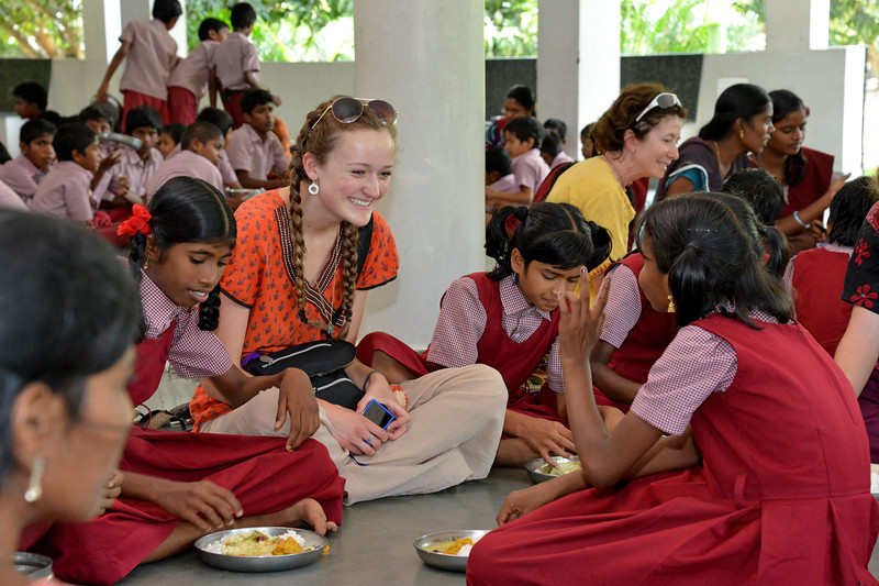 Lunch.<br /> Rising Star Outreach of India, Kancheepuram District, Tamil Nadu, India