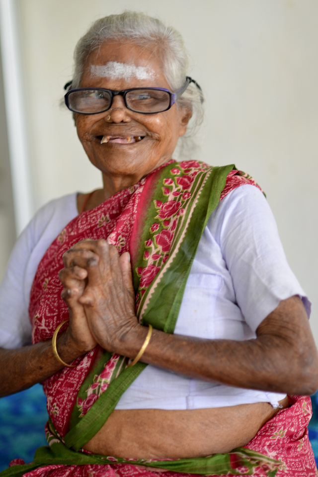 Portraits of the residents of the medical centre and old people home at the village. <br /> Rising Star Outreach of India, Kancheepuram District, Tamil Nadu, India