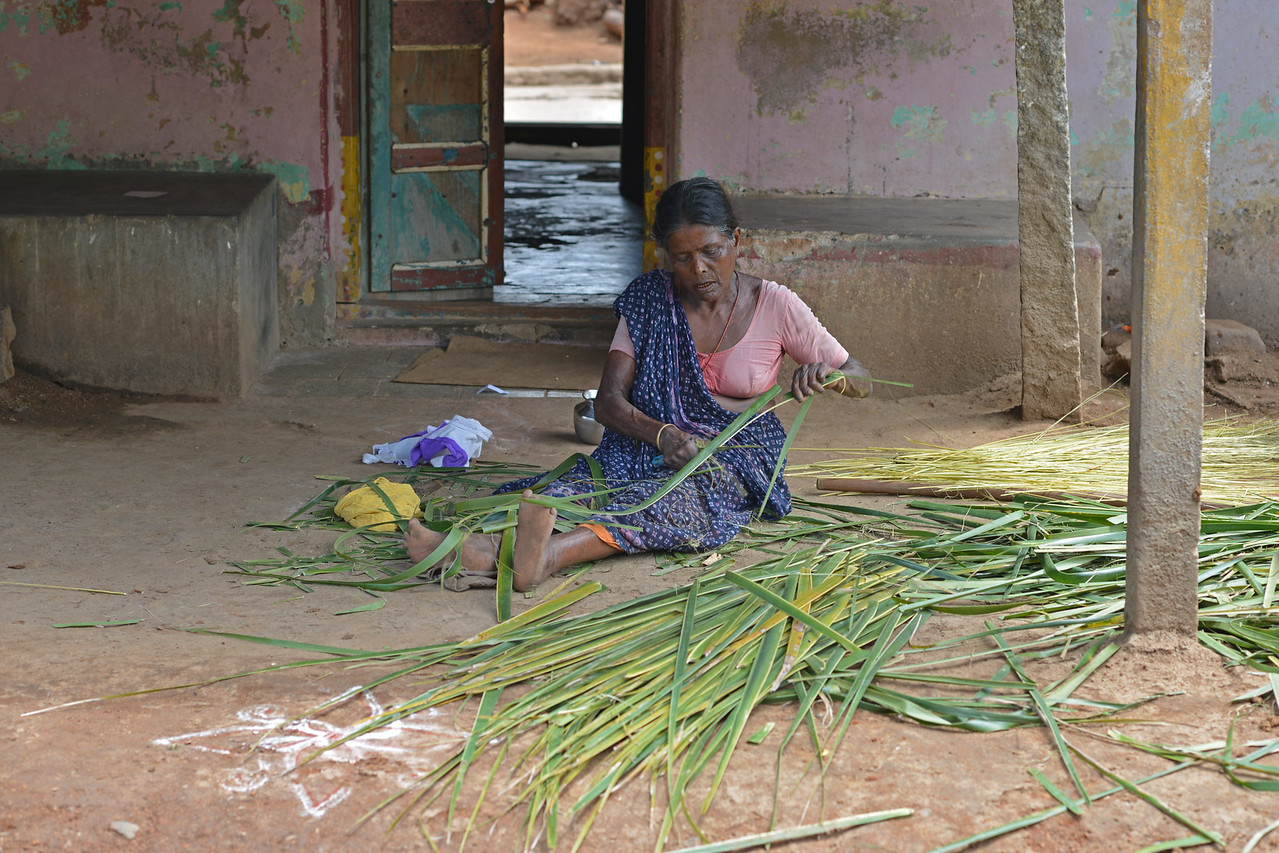 Lady in the village.<br /> Rising Star Outreach of India, Kancheepuram District, Tamil Nadu, India