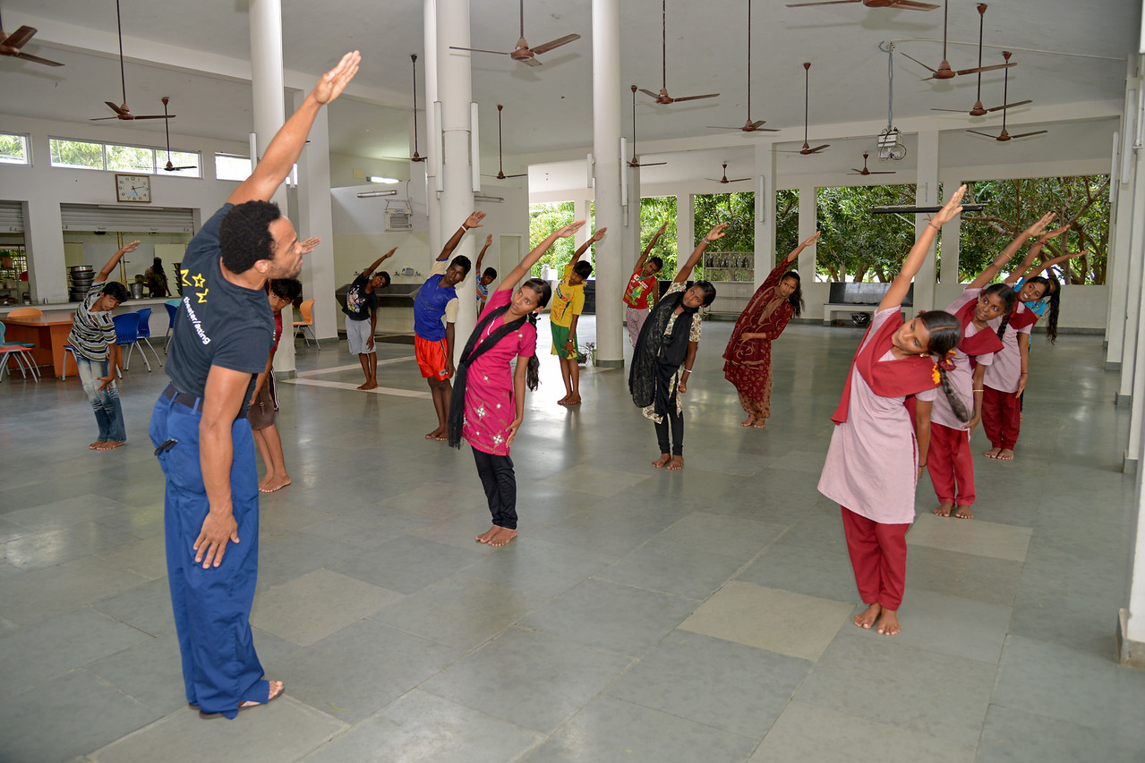 Learning dance. <br /> Rising Star Outreach of India, Kancheepuram District, Tamil Nadu, India
