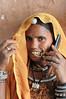 Mobile phone use in Pushkar: Cellphone used in Pushkar, Rajasthan, India.
