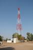 Mobile phone use in Pushkar: Mobile phone tower in Pushkar, Rajasthan, India.