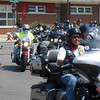 American Legion Riders leave Effingham to continue on the American Legion Legacy Scholarship Run Sunday. The run is to raise money to help pay college tuition for young people who lost active duty military parents on or after the events of 9/11. The run has already raised over $97,000 this year.