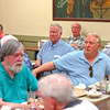 Harmony for Lunch -- Sacramento Area Barbershop singers at Sam's Hof Brau, Sacramento, June 16, 2011 -- Photo by Robert McClintock (c) 2011 by Robert McClintock