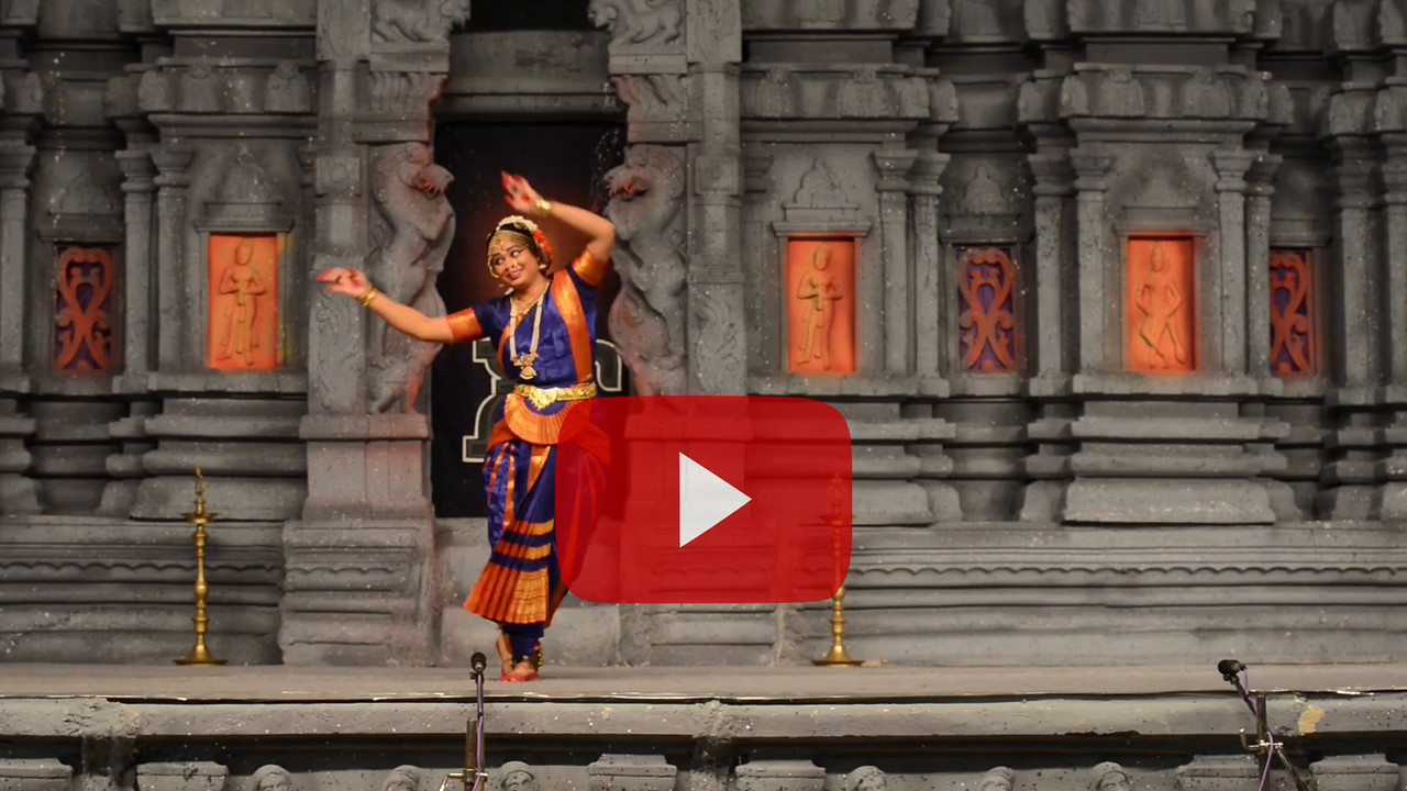 "Short video clip Bharatham: Brindha Ramesh, Srirangam.<br /> Performance at Chidambaram Natyanjali Dance Festival 2015 held at Chidambaram in February 2015. The festival is known for its serenity and uniqueness of the devotion of the dancers dedicating their ""Natya"" (Dance) as ""Anjali"" (Offering) and worship to Lord Nataraja (Shiva)."
