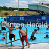 Some of the more than 500 people who escaped the heat at Clinton's Riverview Pool on June 19 enjoy the water. • Katie Dahlstrom/Clinton Herald