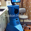 The remote presence robot gives stroke patients at Mercy Medical in Clinton immediate access to neurology specialists from the University of Iowa Stroke Center. • Katie Dahlstrom/Clinton Herald