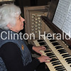Carol Harden on Monday plays the organ at First Congregational Church, where she has played for 50 years. This Sunday, Oct. 21, First Congregational Church is hosting a celebration in her honor. - Katie Dahlstrom/Clinton Herald