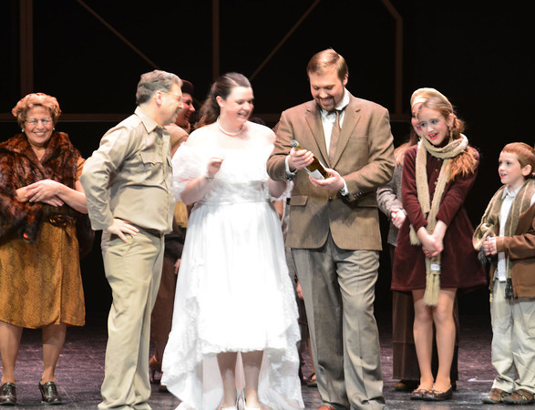 "Performers take on ""It's A Wonderful Life"" at The Effingham Performance Center. The play was presented by Three Chicks and a Stage."