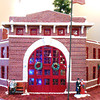 This gingerbread model of the B&O Railroad Depot in Flora took Dr. Ruben Boyajian and his son more than 300 hours to plan and construct.