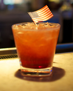 110312, Boston, MA - The Swing State Spritzer, one of the four election inspired cocktails that will be served at Towne Stove and Spirits' election night party. Herald photo by Ryan Hutton