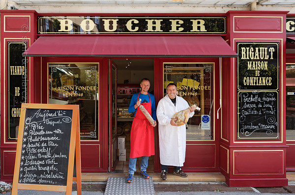 Butcher's shop in Annot.