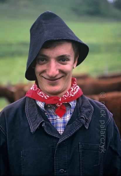 Farmhand in Allanche.