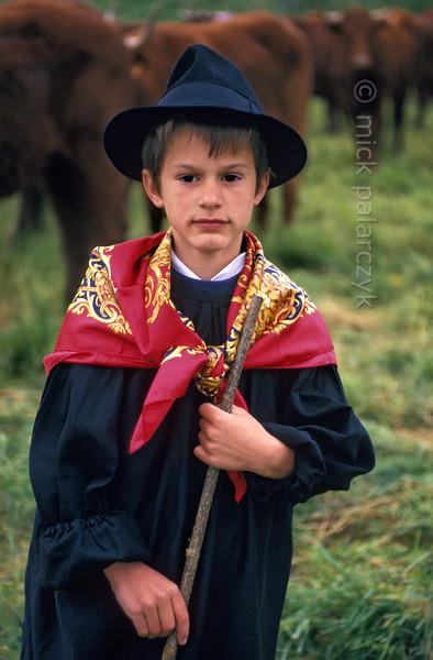 Young farmhand in Allanche.