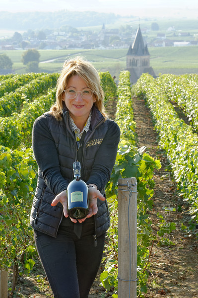 Myriam Dubois of champagne winery Maison Jeeper.