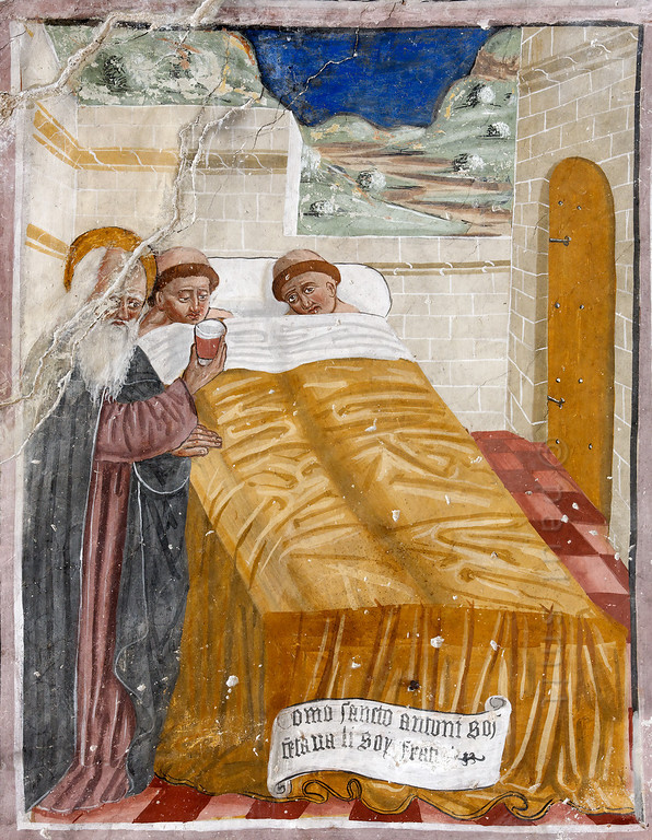 [FRANCE.ALPSSOUTH 29838] 'St. Anthony nursing monks in Clans.'