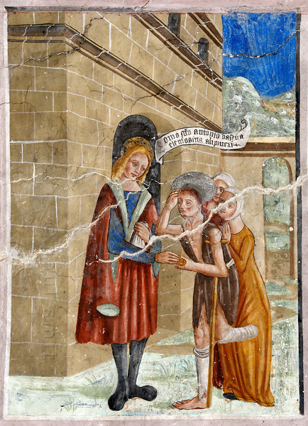 [FRANCE.ALPSSOUTH 29830] 'St. Anthony giving to the poor in Clans.'