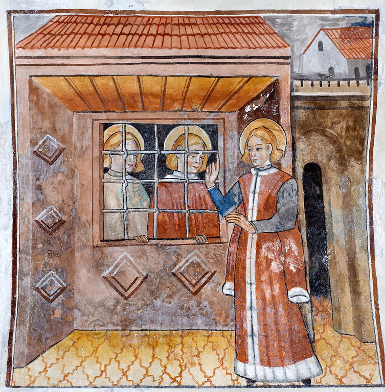 [FRANCE.ALPSSOUTH 29799] 'St. Sebastian, Mark and Marcellian at Venanson.'