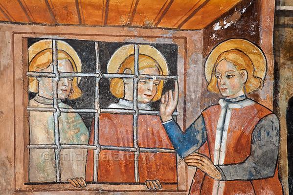 [FRANCE.ALPSSOUTH 29800] 'St. Sebastian, Mark and Marcellian at Venanson.'