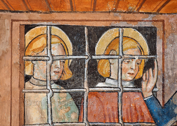 [FRANCE.ALPSSOUTH 29801] 'Imprisoned saints at Venanson.'