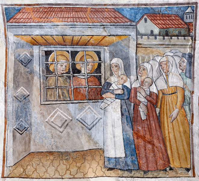 [FRANCE.ALPSSOUTH 29802] 'Imprisoned saints at Venanson.'