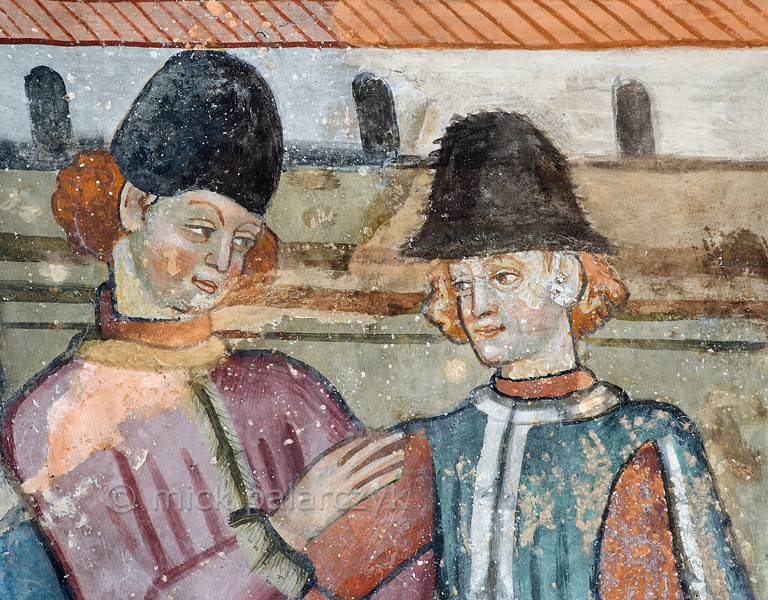 [FRANCE.ALPSSOUTH 29798] 'Medieval portraits at Venanson.'