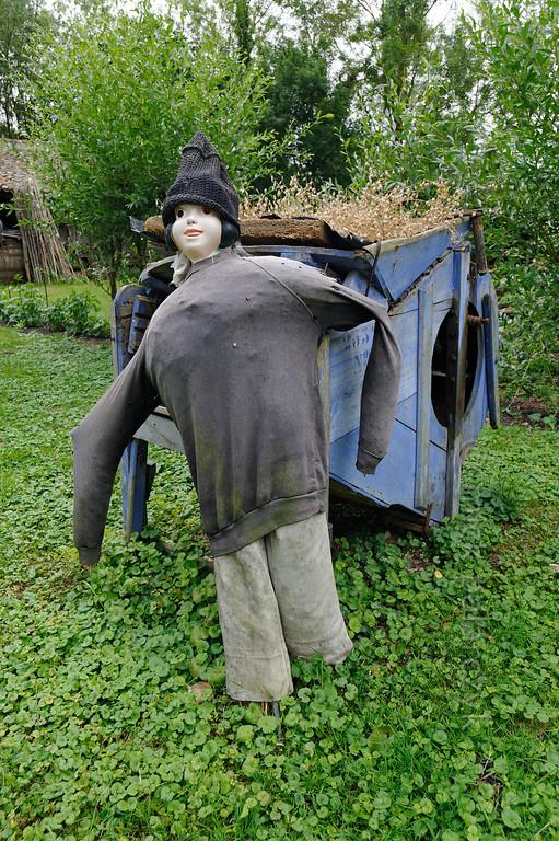 [FRANCE. ATLANTIC 30031] 'Scarecrow near Arçais.'
