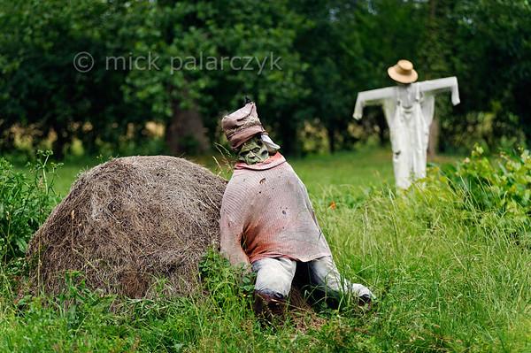 [FRANCE. ATLANTIC 30029] 'Scarecrows near Arçais.'