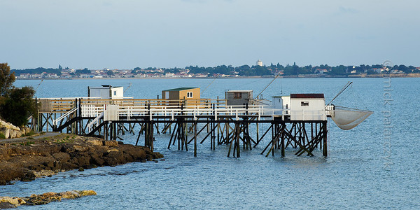 [FRANCE. ATLANTIC 30133] 'Fishing cabins south of Fouras.'