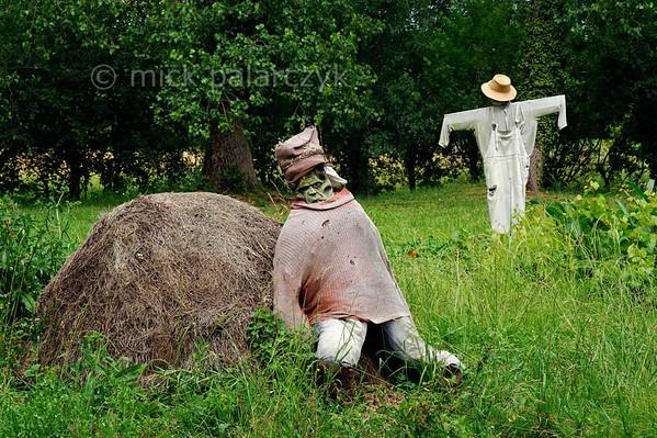 [FRANCE. ATLANTIC 30030] 'Scarecrows near Arçais.'