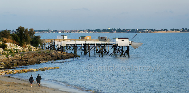 [FRANCE. ATLANTIC 30132] 'Fishing cabins south of Fouras.'