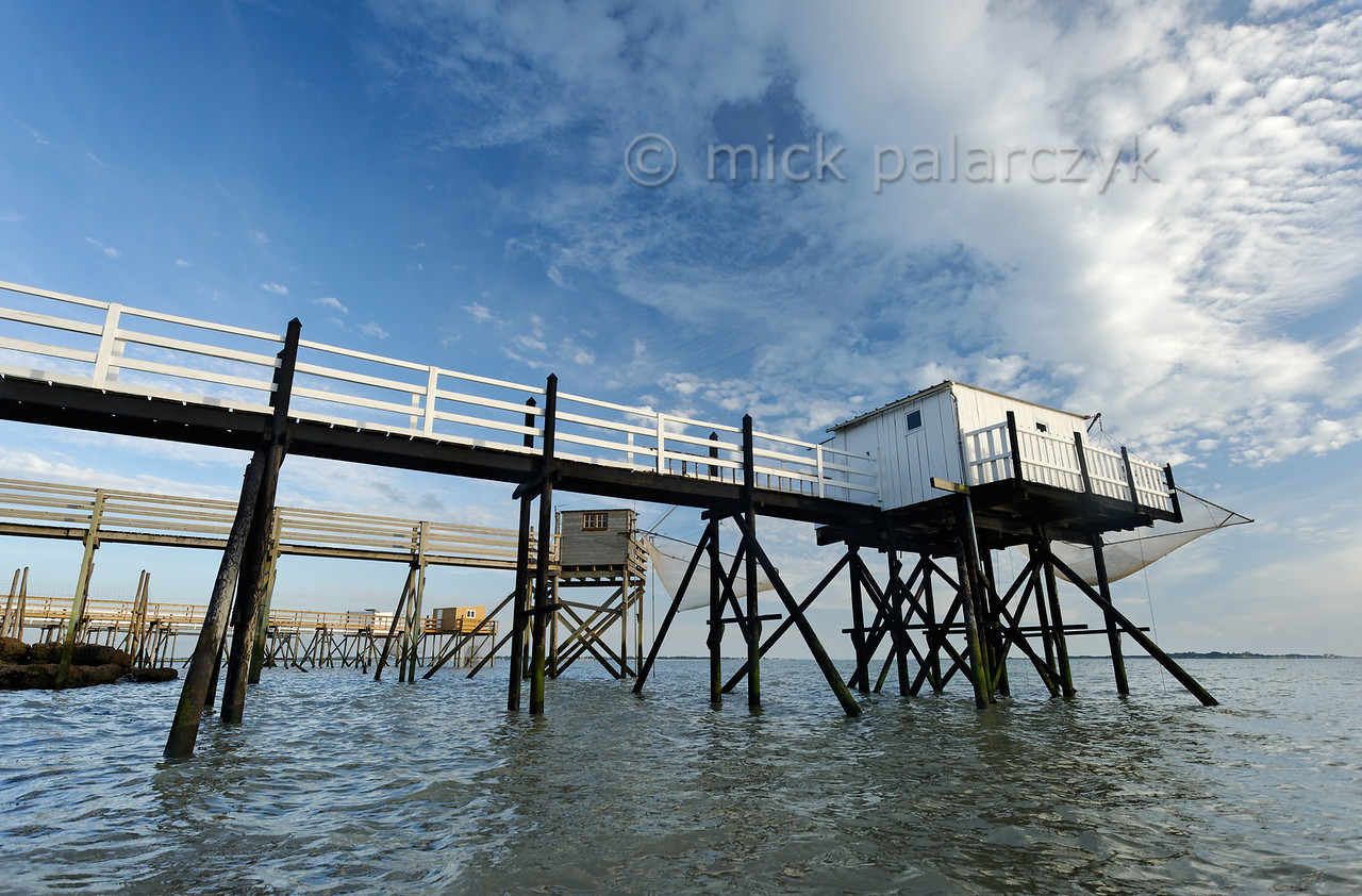 [FRANCE. ATLANTIC 30135] 'Fishing cabins south of Fouras.'