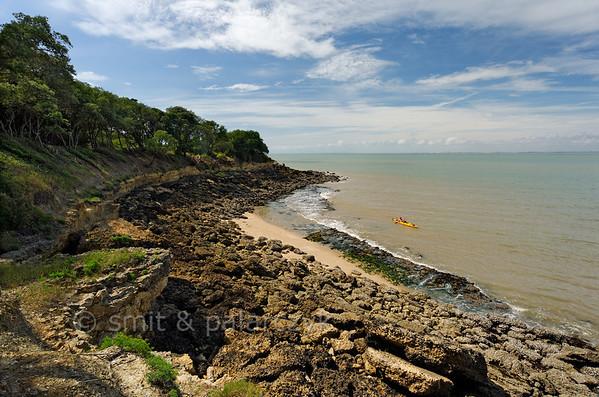[FRANCE. ATLANTIC 30114] 'Northern shore of Ile d'Aix.'