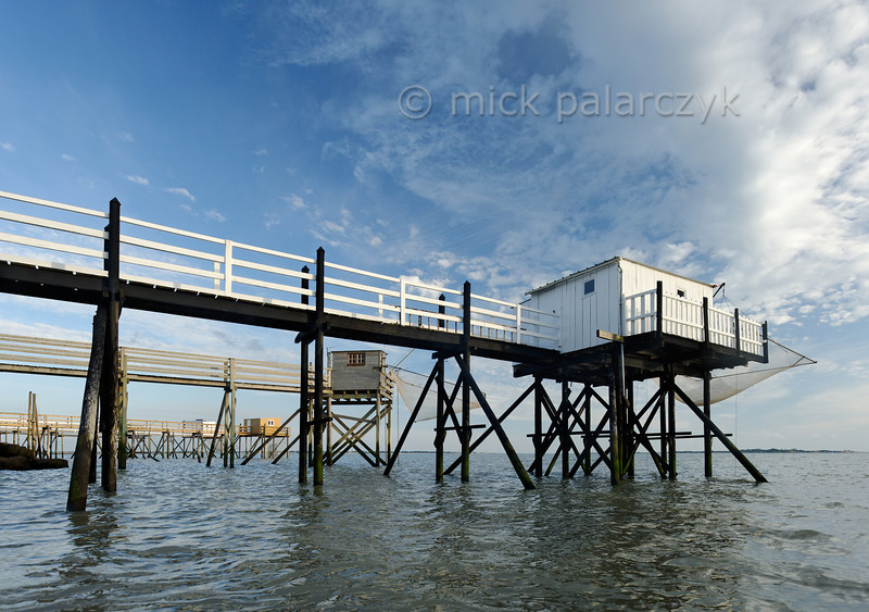 [FRANCE. ATLANTIC 30134] 'Fishing cabins south of Fouras.'