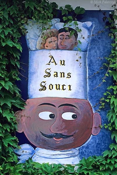 [FRANCE.ALPSNORTH 24.554] 'Au Sans Souci.'  A chef promises careless diners and lodgings in a Trièves village. Photo Mick Palarczyk.