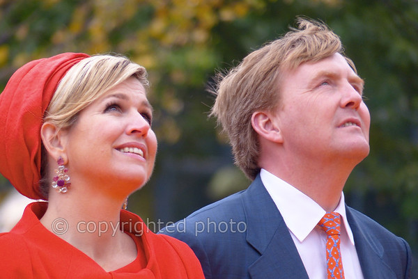 Queen Máxima and King Alexander.