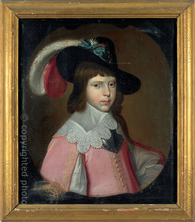 [FRANCE.PROVENCE 10899] 'Portrait of William II, Prince of Orange.'  Portrait of William II as a child. Oil on Canvas, not signed nor dated, probably a copy, to be found in the Musée de l'Art et de l'Histoire in the Provençal town of Orange. William II (27 May 1626 – 6 November 1650) was sovereign Prince of Orange and stadtholder of the United Provinces of the Netherlands from 14 March 1647 until his death three years later. He was the father of William III, king of England, Scotland and Ireland and Dutch stadtholder. Please mention: Photo Musée de l'Art et de l'Histoire d'Orange.