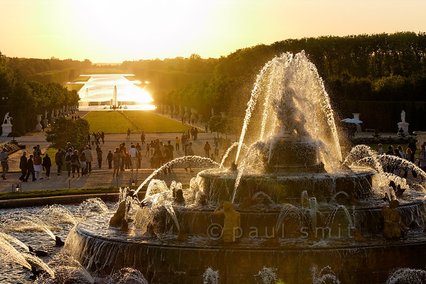 Latona fountain and Grand Canal, Versailles.