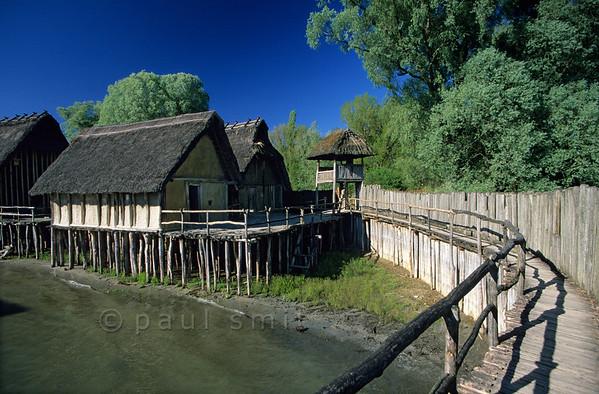 Stone Age village.
