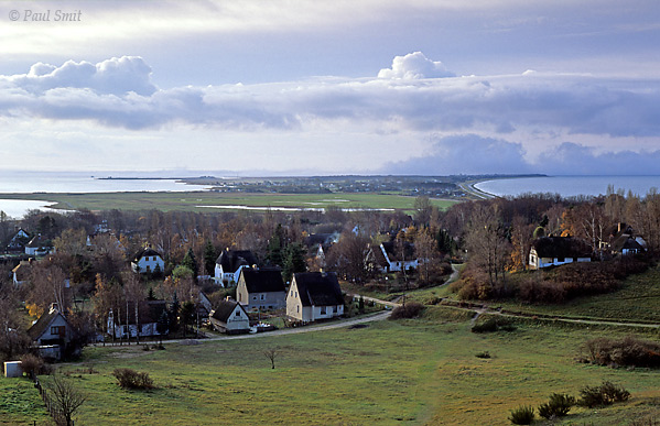 [GERMANY.MECKLENBURG 9391]  'Kloster on the island of Hiddensee.'  Island of Hiddensee: looking south over the village of Kloster from the Dornbusch hill. Photo Paul Smit.