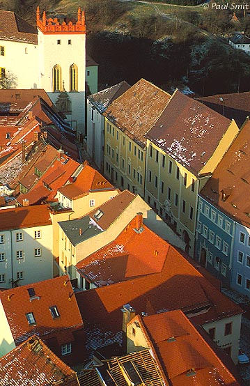 [GERMANY.SACHSEN 7458] 'Colorful Bautzen.' In GDR times Bautzen was dark brown. Since 1989 colour has returned. Thanks to large scale restauration Bautzen is again one of the most beautiful middle-sized historical cities of Germany. Photo Paul Smit.