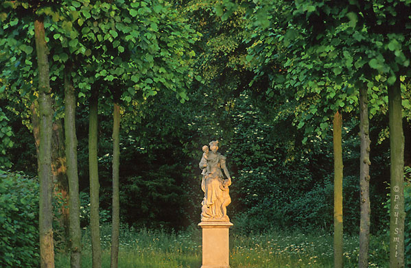 [GERMANY.BRANDENBURG 15]  'Park Sanssouci, Potsdam.'  Beauty is not always with the famous palaces or well known garden views. This is just a far off corner of the Sanssouci Park, where hardly a tourist comes, part of the more than 500 ha Potsdam and Berlin Parks and Palaces UNESCO World Heritage site. Photo Paul Smit.
